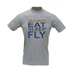 T-Shirt Pilota EAT SLEEP FLY