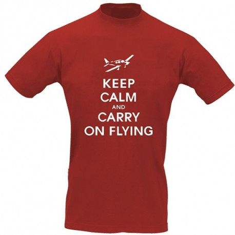 T-Shirt Pilota KEEP CALM AND CARRY ON FLYING
