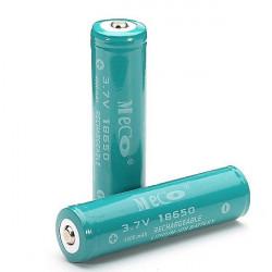 Pacco da 2 Batterie ricaricabile MECO 3.7v 4000mAh 18650 Li-Ion