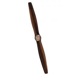 """Elica ornamentale in legno """"Vintage"""" con orologio"""
