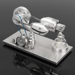 Mini motore Stirling ad aria calda in acciaio inox